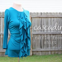 Cascading Ruffle Front, Woman?s Shirt | Make It and Love It