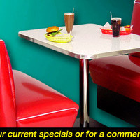 50s V-Back Diner Booth Sets | Retro Furniture | RetroPlanet.com