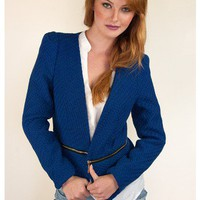 Blueberry Convertible Blazer | Sugar and Sequins