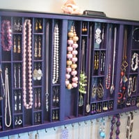 Plum Purple Necklace Organizer