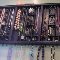 Plum Purple Printers Drawer Jewelry Display