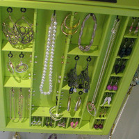 Key Lime Printer drawer jewelry display with stud slots