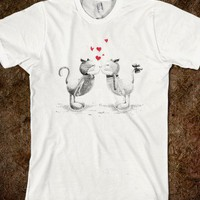 Skreened - cute t-shirt, love t-shirt, love cat, valentine&#x27;s day