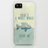 There is a whole world inside me iPhone Case by Belle13 | Society6