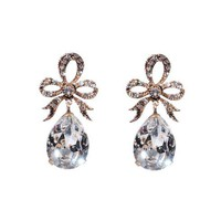 Greenwich Jewelers | Products | Category | Earrings | Azaara Bow Earrings with Pear-Shaped Crystal