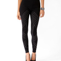 Studded Knit Leggings