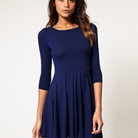 ASOS | ASOS Dress with Pleated Skater Skirt at ASOS