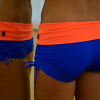 Shorts blue-orange for Bikram yoga