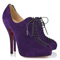 Christian Louboutin 24 Trous 120 Suede Boots