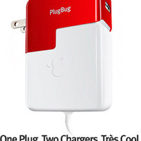 PlugBug Charger, 10W USB iPad/iPhone Charger + MacBook Plug Attachment