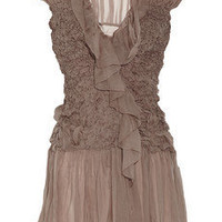 Alberta Ferretti Ruched silk-chiffon blouse - 60% Off Now at THE OUTNET