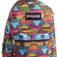 Amazon.com: Trailmaker Girls 7-16 Padded Straps Backpack, Aztec, One Size: Clothing