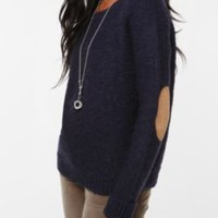 UrbanOutfitters.com &gt; BDG Crew-Neck Elbow Patch Pullover Sweater
