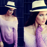 Textured ombre studded sweater