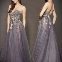 Sweetheart Tulle/Applique Evening Gown Prom Pageant Party Dress Formal Dresses