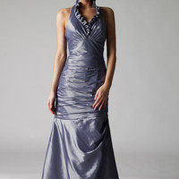 Destiny silver taffeta evening dresses from VERB ?140