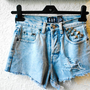 Simple Shredded High Waister Denim Shorts Size 8