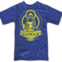 Mens BUDDHA T-shirt S M L XL XXL (royal blue)