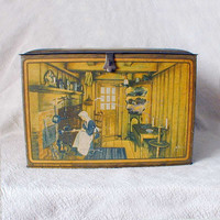 Vintage Biscuit Tin Antique Kitchens of the World by thelostrooms