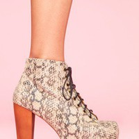 Lita Platform Boot - Python - NASTY GAL