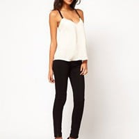 ASOS Cami With Contrast Elastic Straps at asos.com