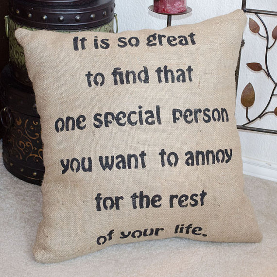 Funny Wedding Gift Quotes : Wedding Engagement Humorous Funny Burlap from sherisewsweet on