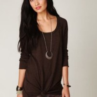 Free People Fireside Longsleeve Snap Back Tee at Free People Clothing Boutique