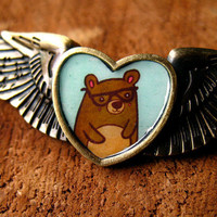 Nerdy Bear Wing Pin