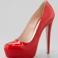Patent Platform Pump, Red
