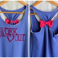 Workout Bow Racerback WORK Your Hea.. on Luulla
