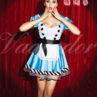Alice in Wonderland Ladies Disney Fancy Dress Up Halloween Costume Outfit Belt