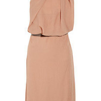 Acne|Evans asymmetric crepe dress|NET-A-PORTER.COM