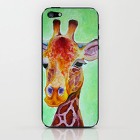 Colorful Giraffe iPhone & iPod Skin by haleyivers | Society6