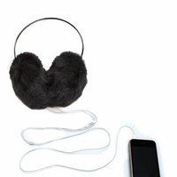 furry-ear-muff-headphones BLACK LEOPARD LTPINK - GoJane.com