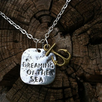 Dreaming of the Sea and Bronze Anchor Charm Necklace