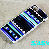 Teal and blue tribal pattern iPhone 5 Scrub Case