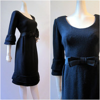 60s Dress Vintage Day to Evening Flounced Sleeves by voguevintage