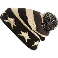 Black stars and stripes beanie hat