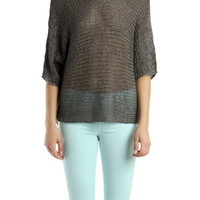 Vince Metallic Sweater in Topaz | Blue&Cream