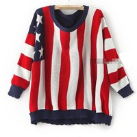 Oversized Flag Sweater by Seek Vintage