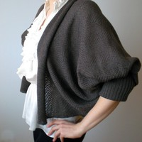 Shrug / Bolero  Dark Nougat Long Sleeves by BVLifeStyle on Etsy