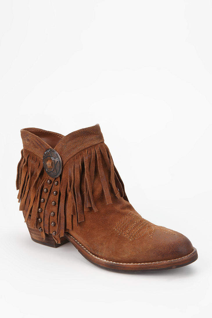 sam edelman sidney fringe ankle boot from outfitters
