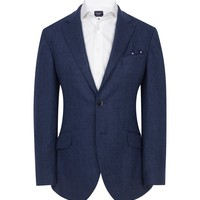 Blue Herringbone Jacket - Jackets - Shop By Product - Men | Hackett