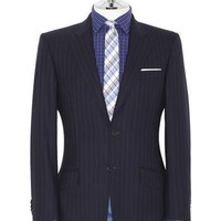Olivier Regular Fit 2-Button Navy Stripe Suit | T.M.Lewin