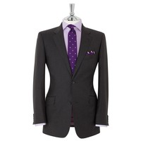 Perth Regular Fit 2-Button Charcoal Suit | T.M.Lewin