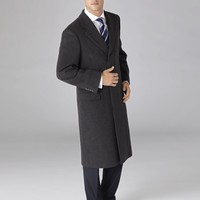 Charcoal Chesterfield Coat | T.M.Lewin