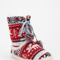 UrbanOutfitters.com &gt; Red Moose Lace-Up Fair Isle Sweater Slipper