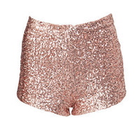 Parisian Pink Sequin Hotpants