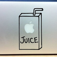 Apple Juice Box  Mac sticker mac decal macbook sticker macbook decal