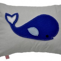 Whale - Deep Blue Cushion from Lettie Belle | Made By Lettie Belle | 25.00 | Bouf